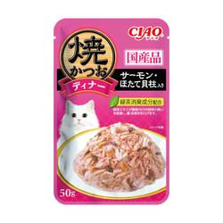 4901133620164CIAO鰹魚燒晚餐餐包化毛配方鰹魚+柴魚片+干貝50g