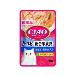 4901133614392CIAO巧餐包鰹魚綜合營養食40g