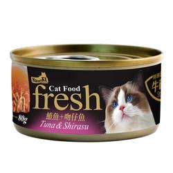 4712257320119(E)紐崔克(貓)湯罐鮪魚+吻仔魚80g