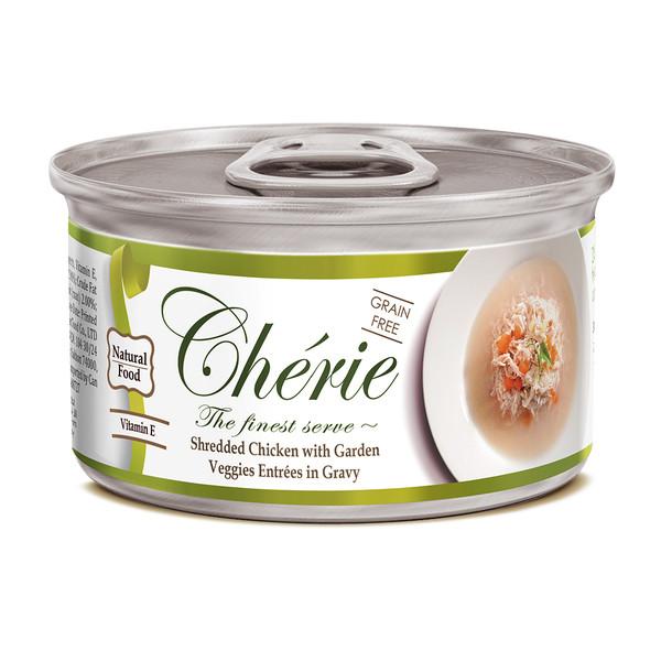 4712937600364法麗湯汁系列天然嫩雞佐鮮蔬貓罐80g