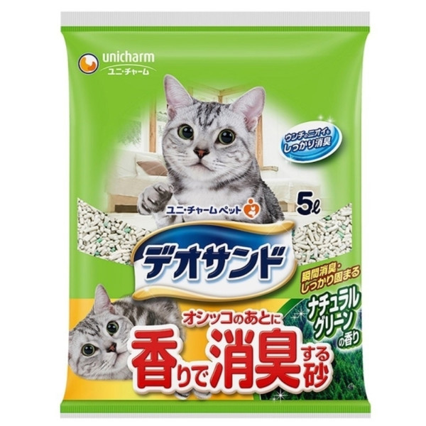 【Unicharm 嬌聯】(礦)消臭礦砂(5L)-森林香/肥皂香