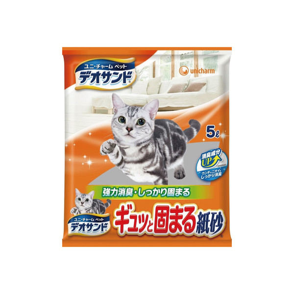 【Unicharm 嬌聯】消臭大師強力凝結紙砂-無香5L