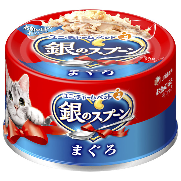 【Unicharm 嬌聯】銀湯匙貓罐頭鮪魚70g  共6種口味