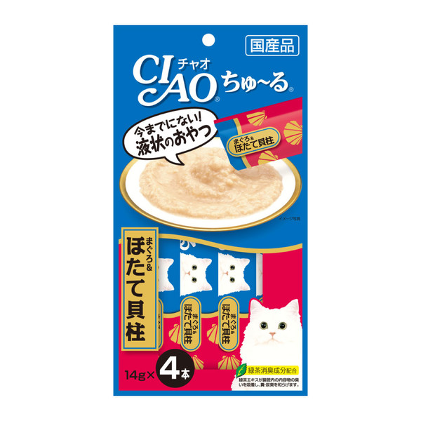 【優惠1+1】CIAO點心組合優惠包(啾嚕肉泥-鮪魚&干貝 + 魚柳條-吻仔魚)