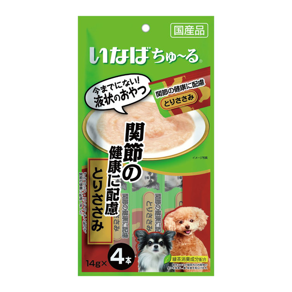4901133736667INABA汪啾嚕(犬)肉泥關節健康配慮(雞肉)14g*4入