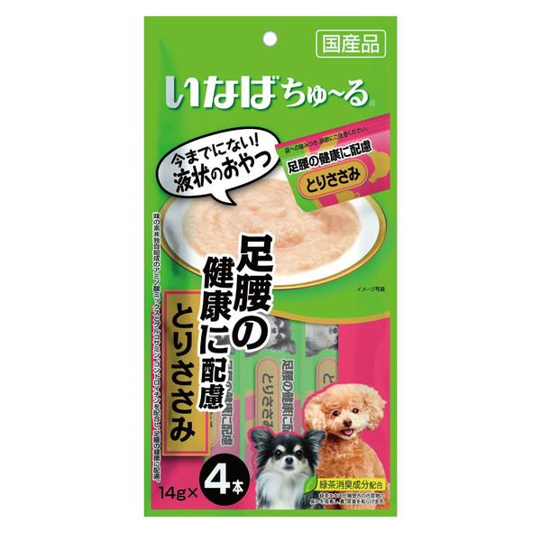 4901133827594INABA汪啾嚕(犬)肉泥腿部健康配慮(雞肉)14g*4p