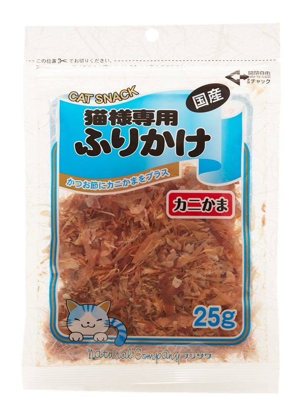 【藤沢 フジサワ】貓咪撒片 蟹肉絲25g