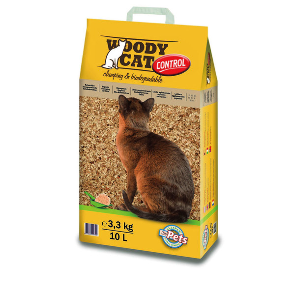 【Woody Cat伍德】凝結木屑貓砂3.3KG-10L