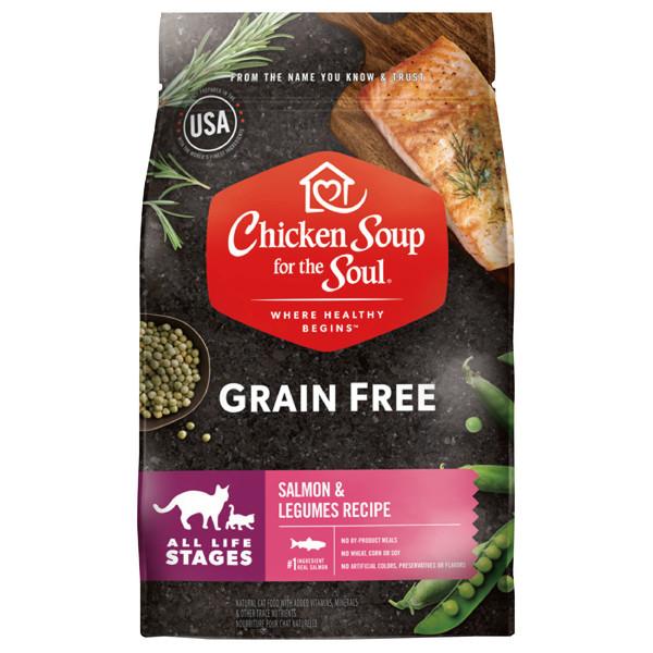 【心靈雞湯】無穀全齡貓鮮鮭魚+莢果進階配方4磅/雞肉+莢果進階配方4磅