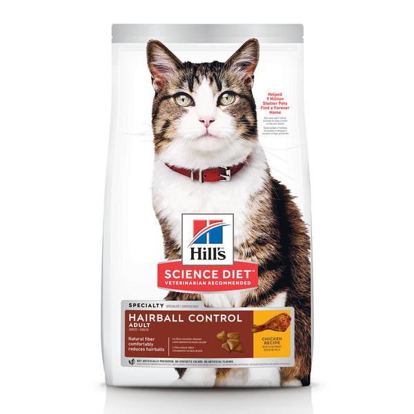 【即期促銷】希爾思(貓)成貓毛球控制雞肉特調食譜-3.17公斤