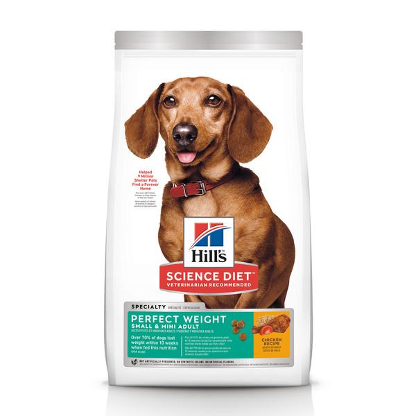 【Hill's 希爾思】完美體重 小型及迷你 成犬 雞肉 (1.81/6.8公斤)
