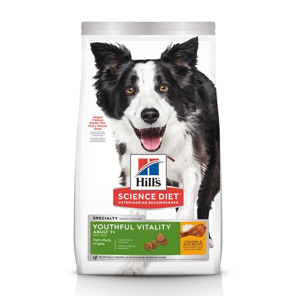 【Hill's 希爾思】青春活力 高齡犬 雞肉與米 (1.58/9.75公斤)