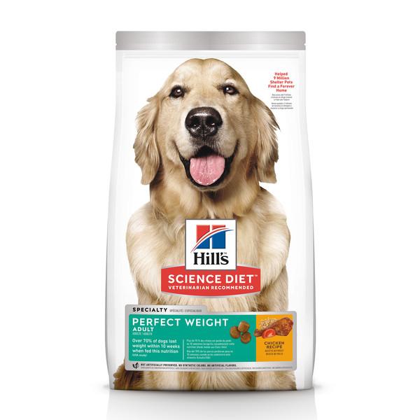 【Hill's 希爾思】完美體重 成犬 雞肉 (1.81公斤/6.8公斤)