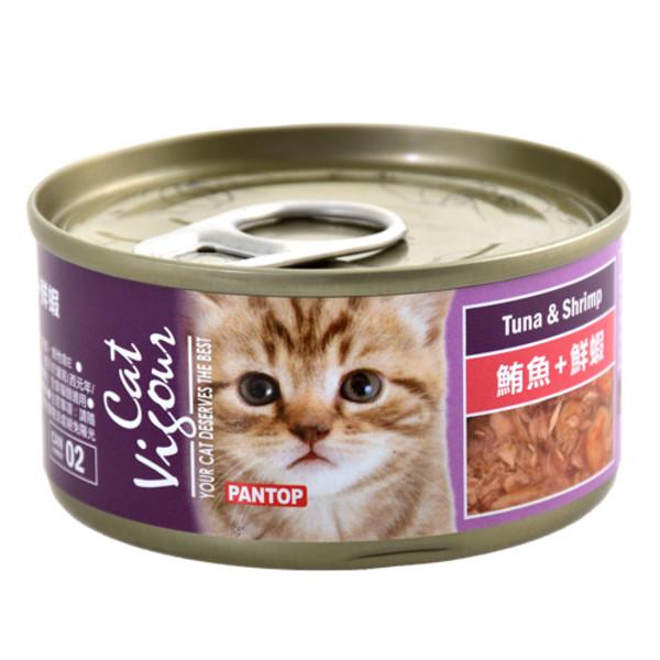 4716609944695(E)邦比貓餐罐-鮪魚+鮮蝦80g
