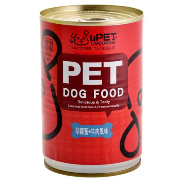 4713616704069(E)優沛特-犬用大狗罐-胡蘿蔔+牛肉400g