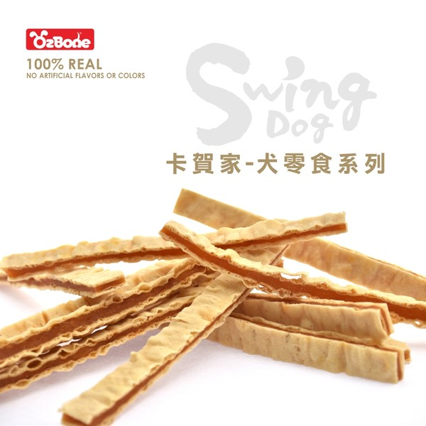 4712257320676(E)OB卡賀家犬零食-蜜汁雞肉鱈魚條150g