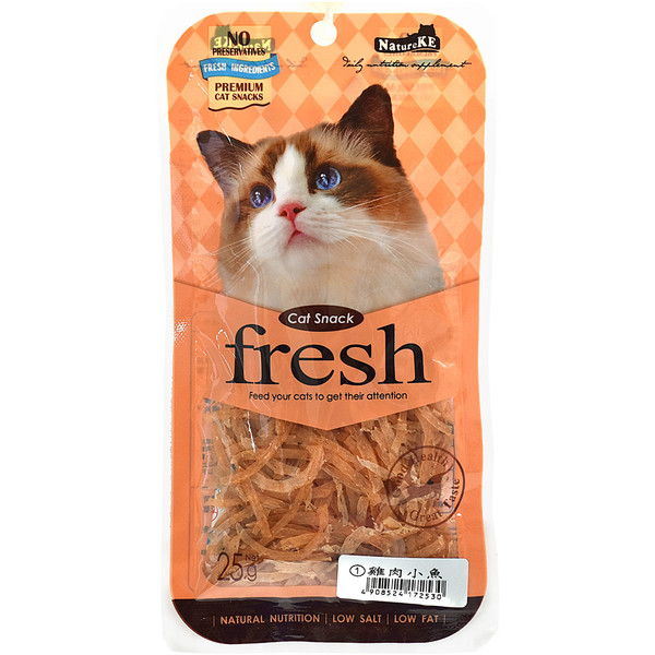 4908524172530 紐崔克貓零食-雞肉小魚25 g
