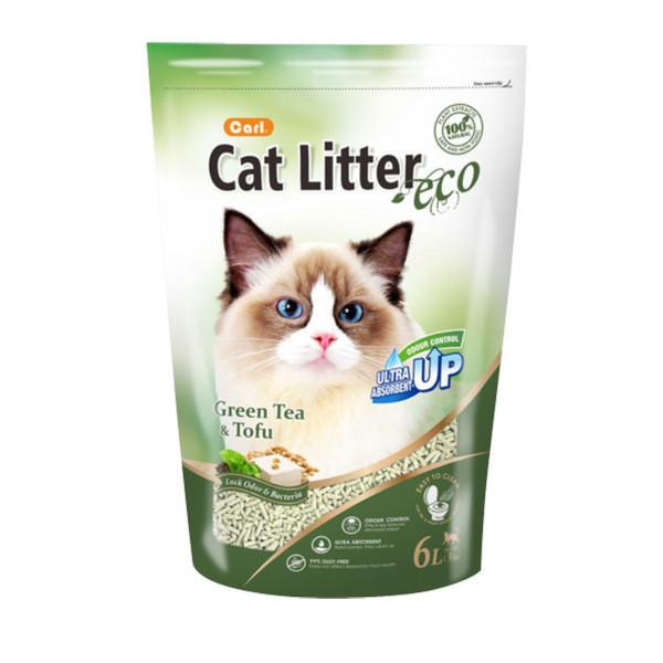 4712257324513(E)卡爾豆腐貓砂-綠茶6L