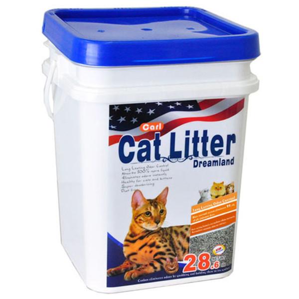 2302612100030(E)卡爾天然活性碳多功能貓砂13kg(無香)