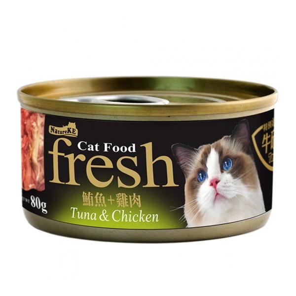 4712257320164(E)紐崔克(貓)罐鮪魚+雞肉80g