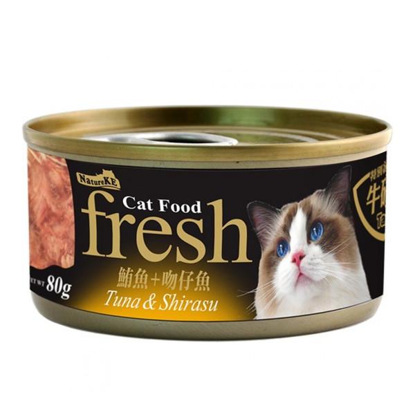 4712257320171(E)紐崔克(貓)罐鮪魚+吻仔魚80g