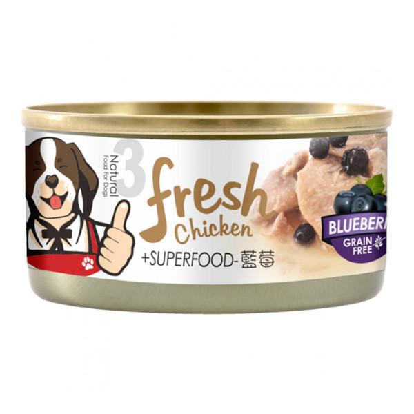 4712257322656(E)超級香雞腿(犬)罐NO.3-雞腿+藍莓85g