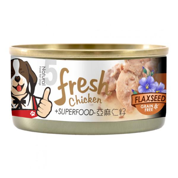 4712257322670(E)超級香雞腿(犬)罐NO.5-雞腿+亞麻仁籽85g