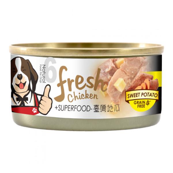 4712257322687(E)超級香雞腿(犬)罐NO.6-雞腿+地瓜85g