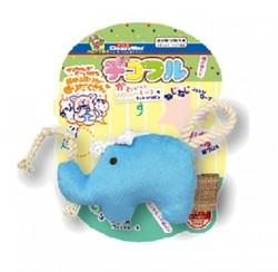 4976555857146DM犬貓用藍大象絨毛玩具