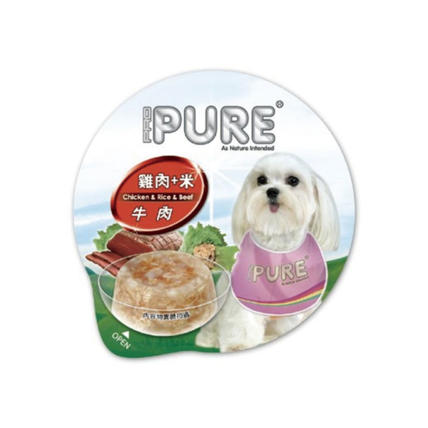 4717347000643PURE(犬)巧鮮杯雞肉+米+牛80g-杯(24/箱)