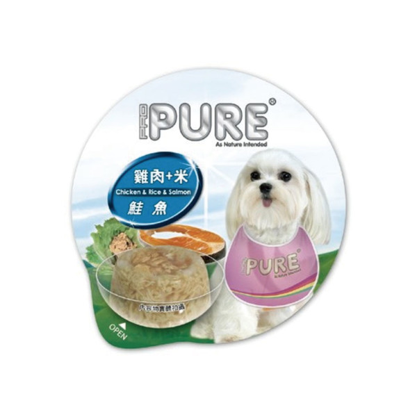 4717347000650PURE(犬)巧鮮杯雞肉+米+鮭魚80g-杯(24/箱)