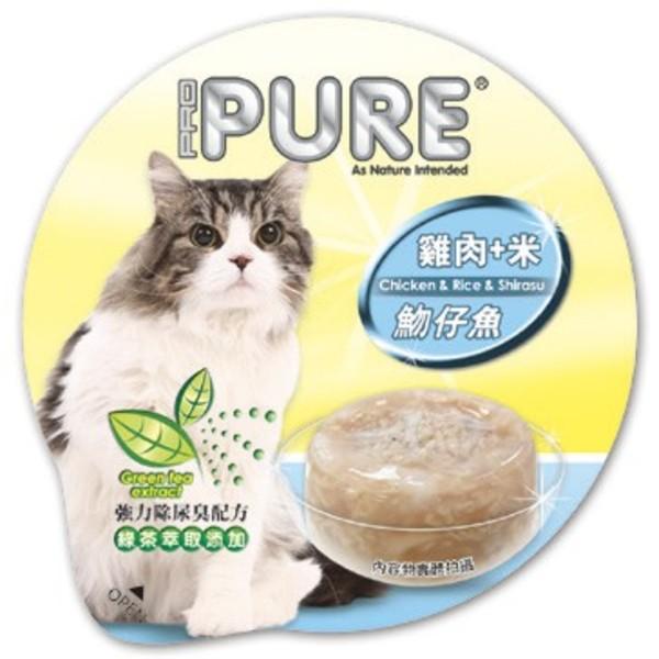 4717347000766PURE(貓)巧鮮杯雞肉+米+吻仔魚80g-杯(24/箱)