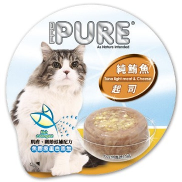 4717347000803PURE(貓)巧鮮杯純鮪魚+起司80g-杯(24/箱)
