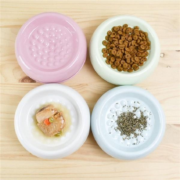 【國際貓家 BOXCAT】Bagel貓及小型犬用陶瓷防蟻碗(湖水藍)