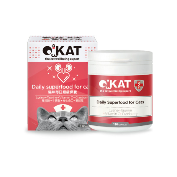 O'KAT美喵人生貓咪每日超級保健 (110顆入)                        4712364301476