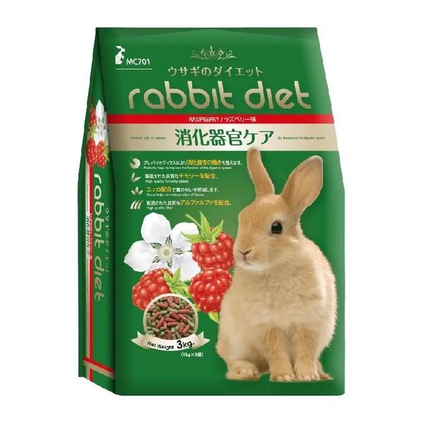 【GEX】愛兔高纖美味餐3kg-(覆盆子/ 蘋果/野莓)