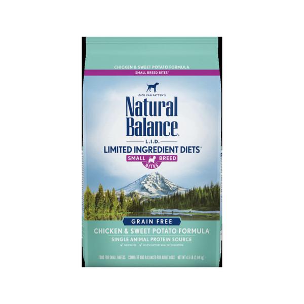 【Natural Balance】低敏無榖地瓜雞肉成犬配方4.5lb  小顆粒/原顆粒