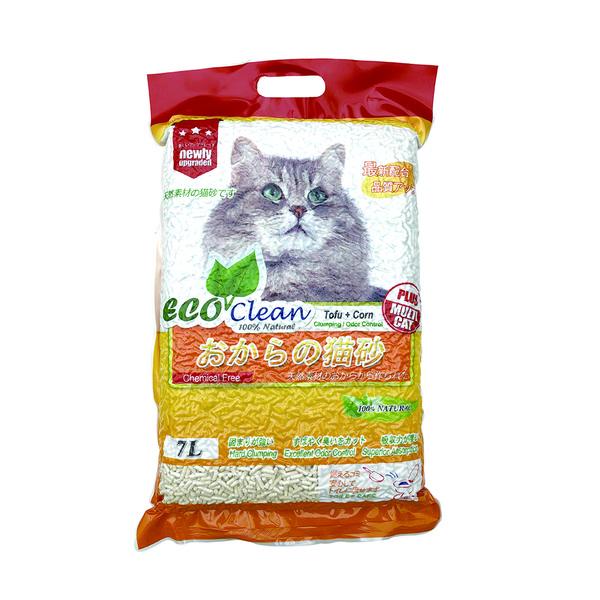 6944386600949(豆腐)Eco Clean艾可環保豆腐玉米貓砂7L