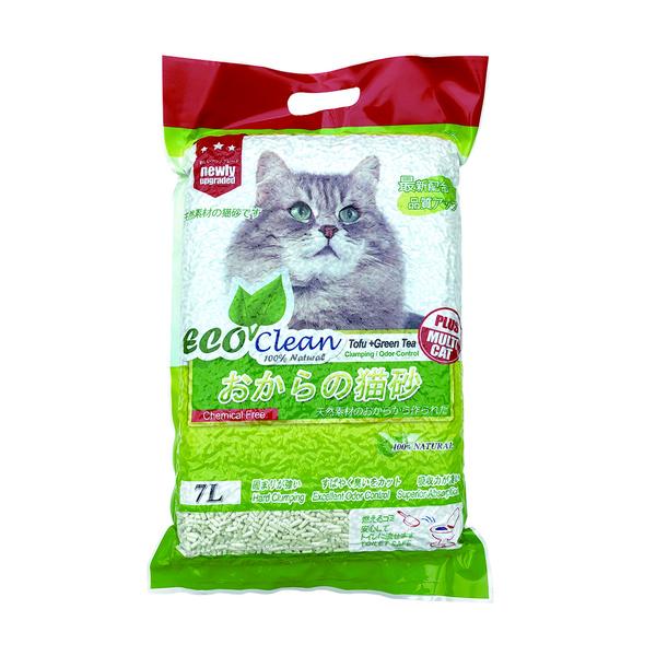 6944386600963(豆腐)Eco Clean艾可環保豆腐綠茶貓砂7L