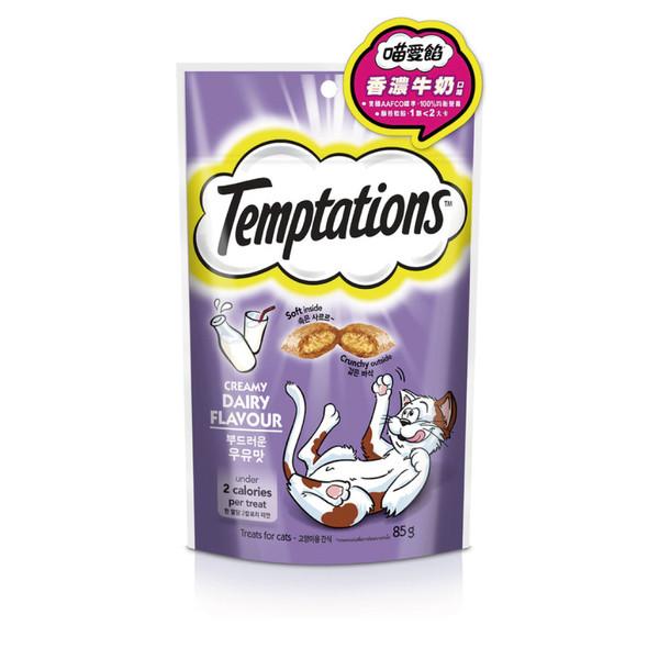 TEMPTATIONS貓餡餅-香濃牛奶口味85g8853301001489