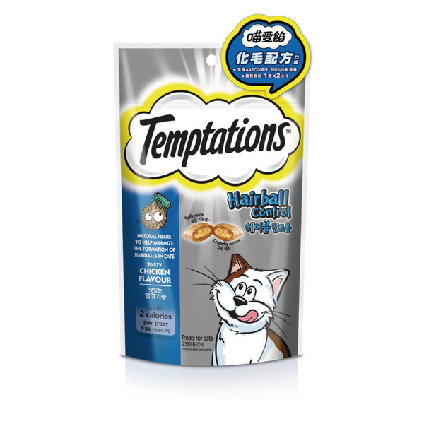 TEMPTATIONS貓餡餅-化毛配方口味60g 8853301001502