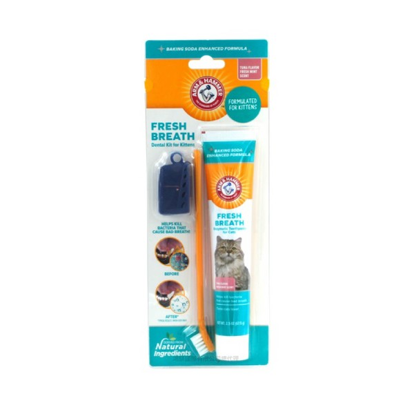 【ARM & HAMMER 鐵鎚】鐵鎚牌易齒趣貓用潔牙訓練套組23.8g