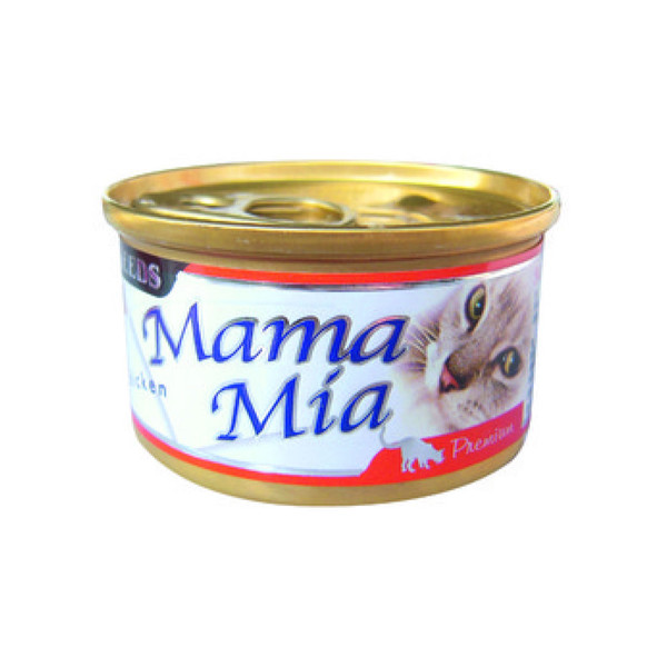 MAMAMIA貓餐(鮮嫩純雞肉)85g-罐(24/箱) 4719865826071