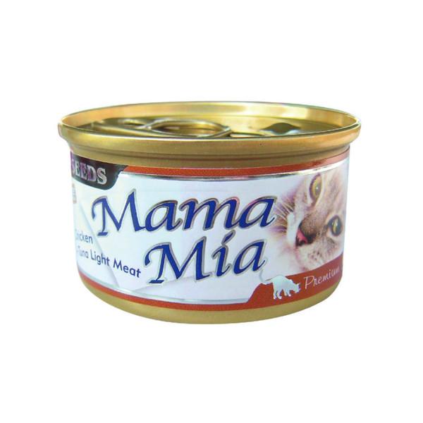 MAMAMIA貓餐(雞肉+鮪魚)85g-罐(24/箱)4719865826088