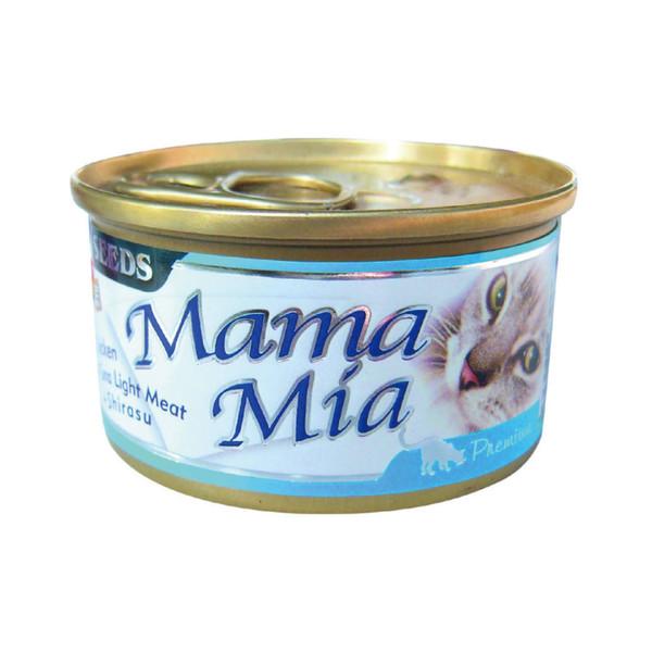 MAMAMIA貓餐(雞肉+鮪魚+吻)85g-罐(24/箱) 4719865826125