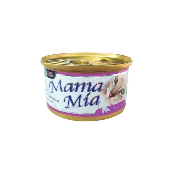 MAMAMIA貓餐(雞肉+鮪魚+蕃茄)85g-罐(24/箱) 4719865826095