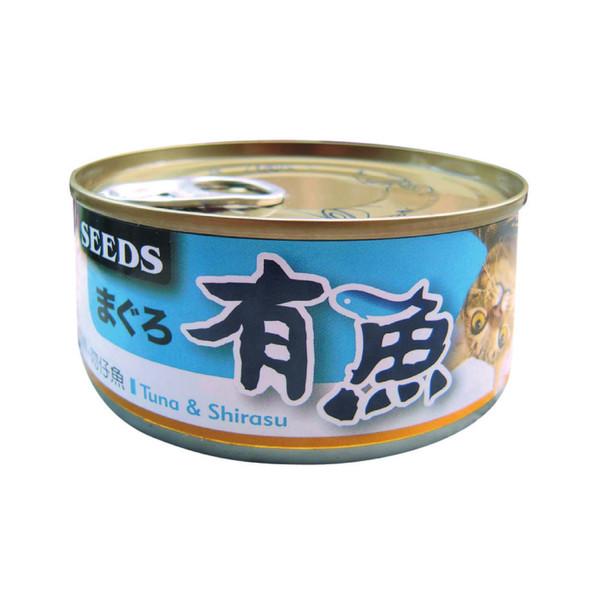 有魚貓餐-鮪魚+吻仔魚170g-罐(48/箱) 4719865826576