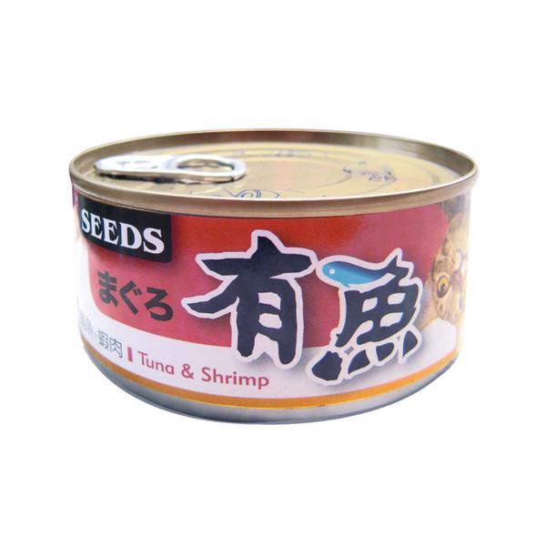 有魚貓餐-鮪魚+蝦肉170g-罐(48/箱) 4719865826590
