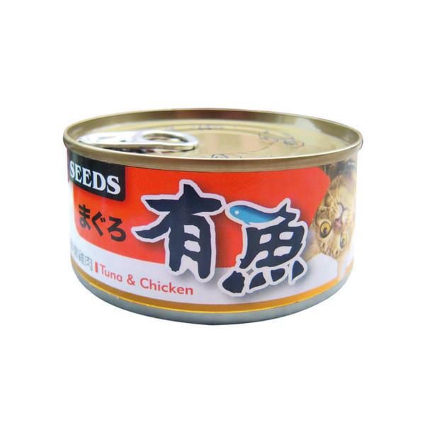有魚貓餐-鮪魚+鮮嫩雞肉170g-罐(48/箱) 4719865826569