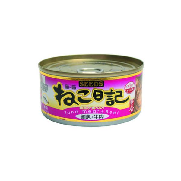 4719865821571喵喵日記-鮪魚+牛肉170g-罐(48/箱)